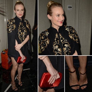Diane Kruger Wears Jason Wu Cape Dress to the St. Regis Bal Harbour Resort Opening Party: From All Angles