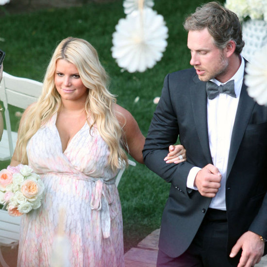 Jessica Simpson Pictures Pregnant at Friend's Wedding