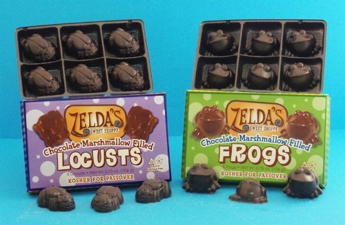 Passover Chocolate Marshmallow Frog and Locust Gift Set