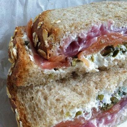 Lox and Cream Cheese Sandwich