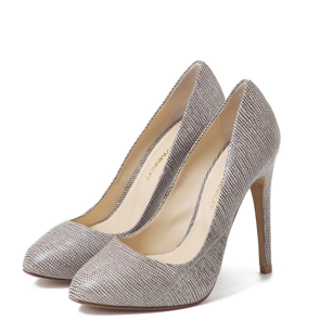 We love that these could easily be our neutral pump, but with a great play on texture.  Rebecca Minkoff Lizard Embossed Bliss Pumps ($350)