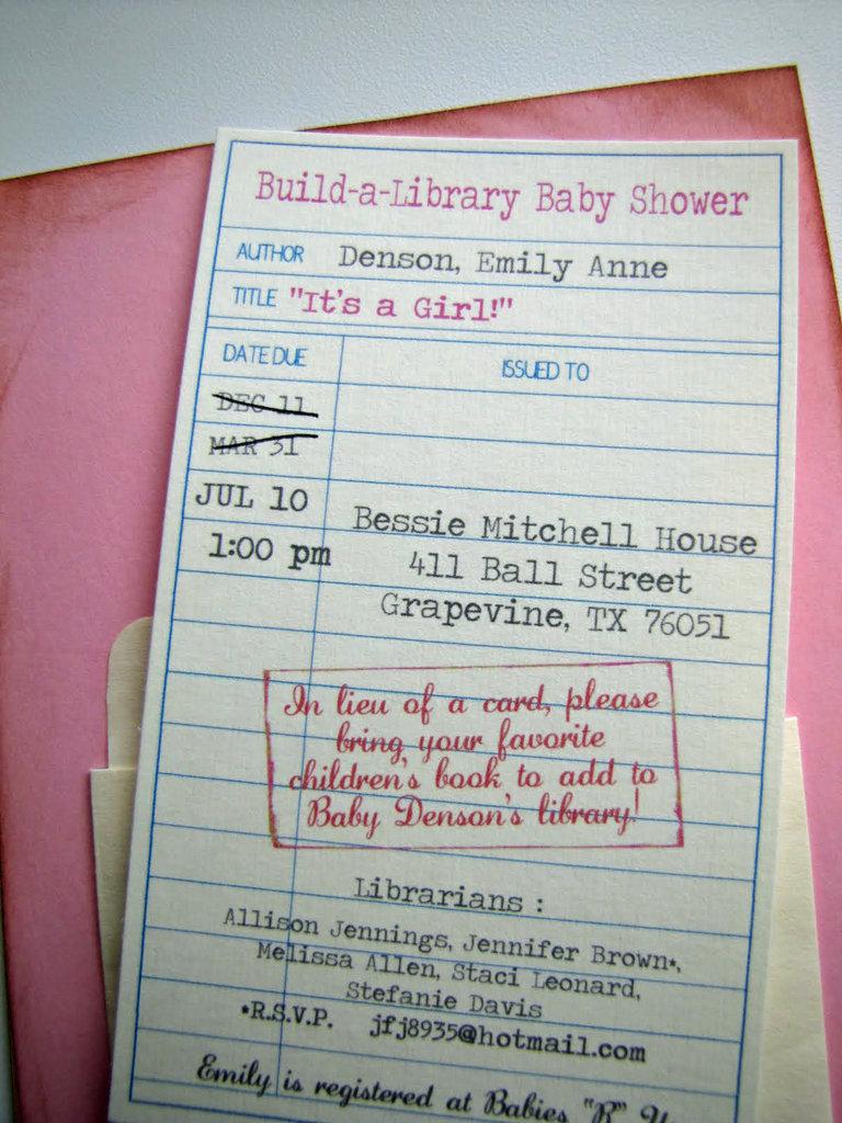 Library Card Invite