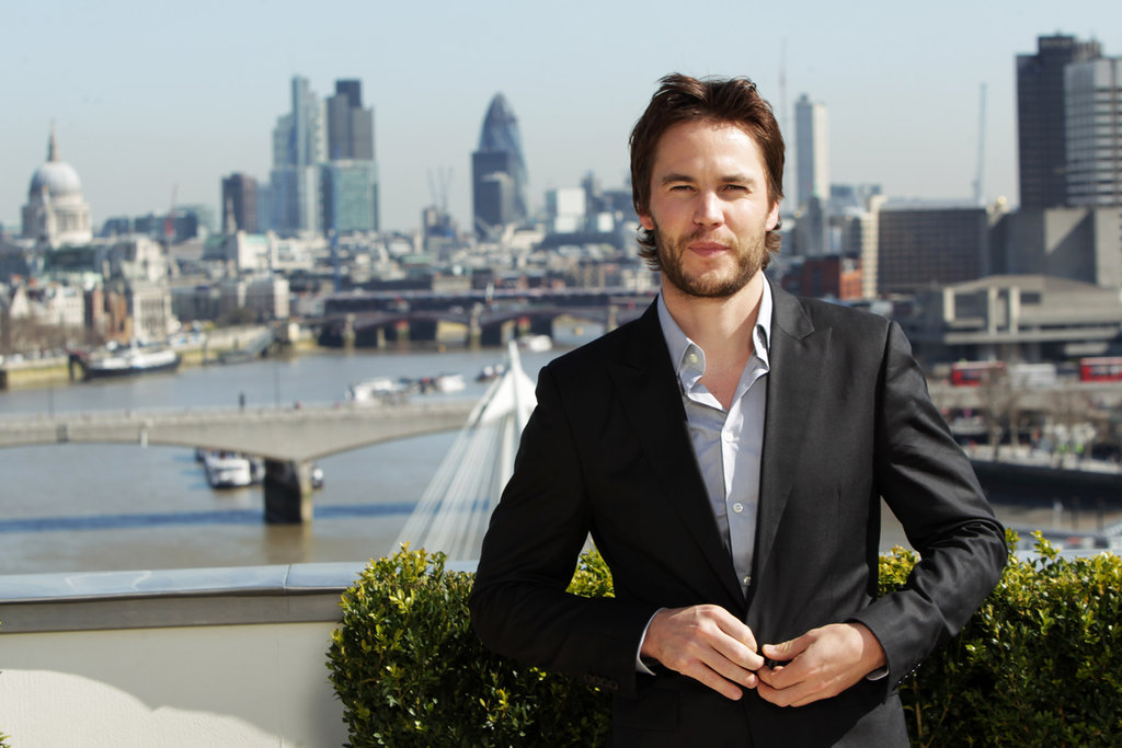 Taylor Kitsch looked dapper at a photocall for Battleship in London.