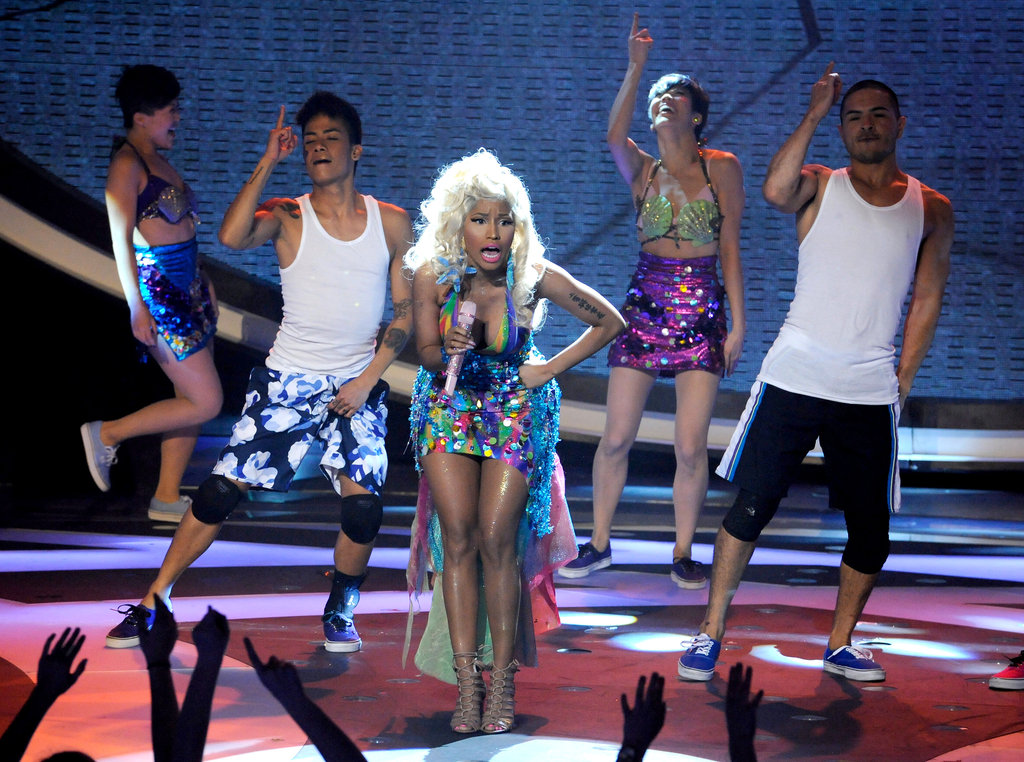 Nicki Minaj performed at American