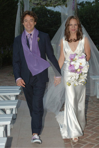 Robert Downey Jr. took bride Susan Levin by the hand in August 2005.