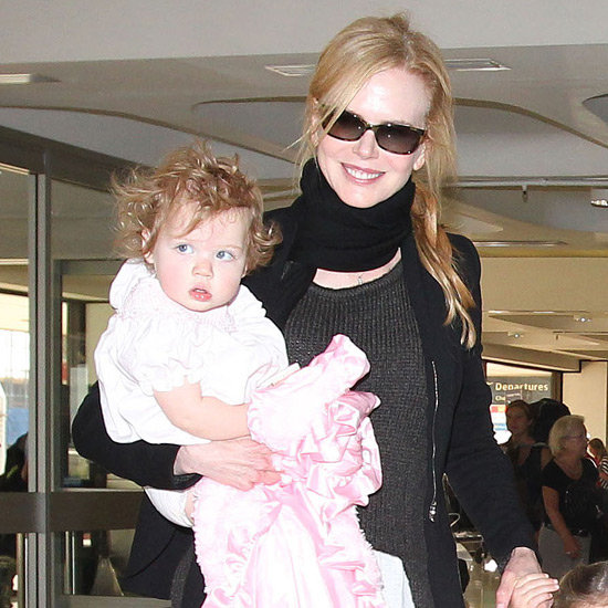 Nicole Kidman and Keith Urban Sydney Airport Pictures With Daughters Sunday Rose and Faith Margaret