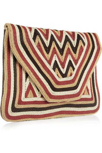 Antik Batik|Paco cord-embellished leather envelope clutch|NET-A-PORTER.COM