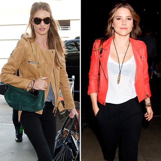 Rosie Huntington-Whiteley Tan Leather Jacket