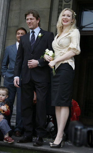 Actor Sean Bean exchanged vows with Georgina Sutcliffe in London during February 2009.