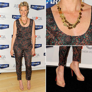 Amy Smart Printed Pants Look
