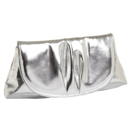 Cash in on the metallic trend for under $30 with this go-with-anything clutch.  La Regale Metallic Clutch ($30)
