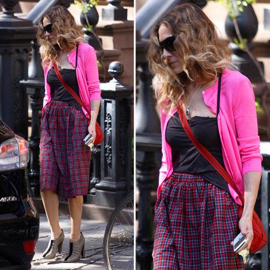 Sarah Jessica Parker Plaid Skirt