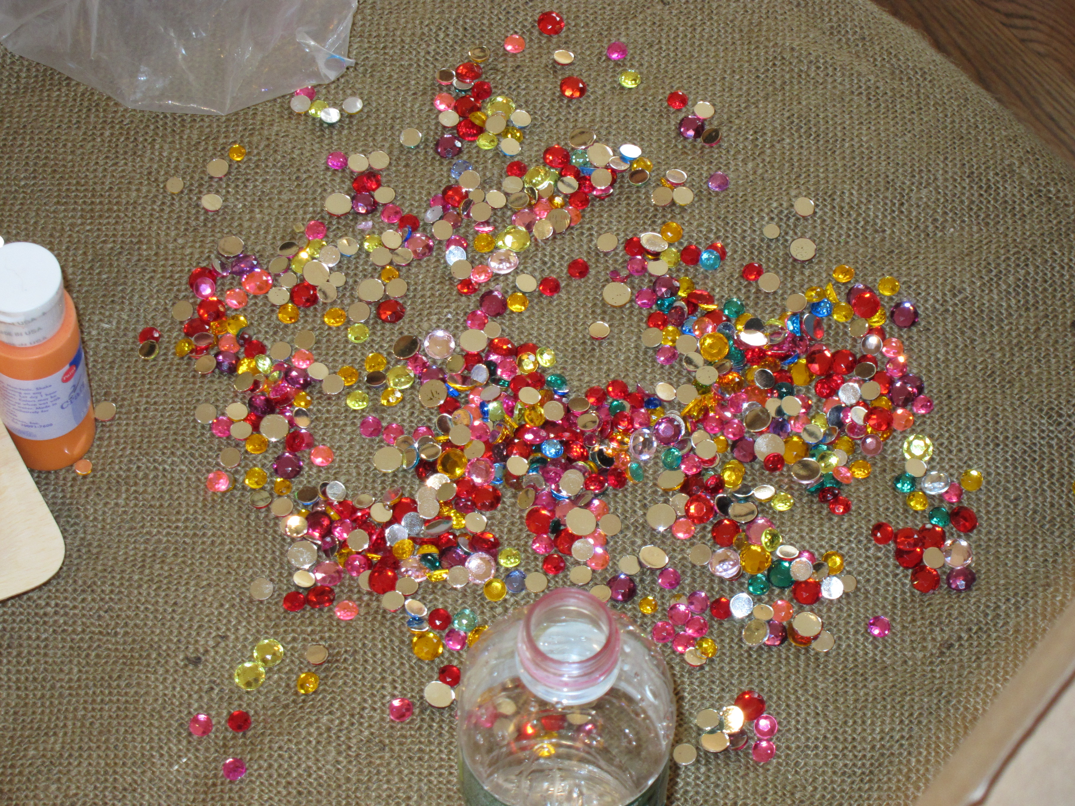 Different Bedazzling Options:   Cupped Sequin Multi-Pack ($3)  Assorted Sized Rhinestone Sequins ($8)  Chenille Kraft Sequins and Spangles Classroom Pack ($17)