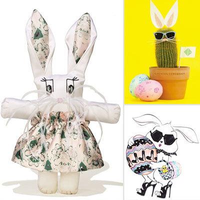Designers Create Custom Easter Bunnies For Vogue