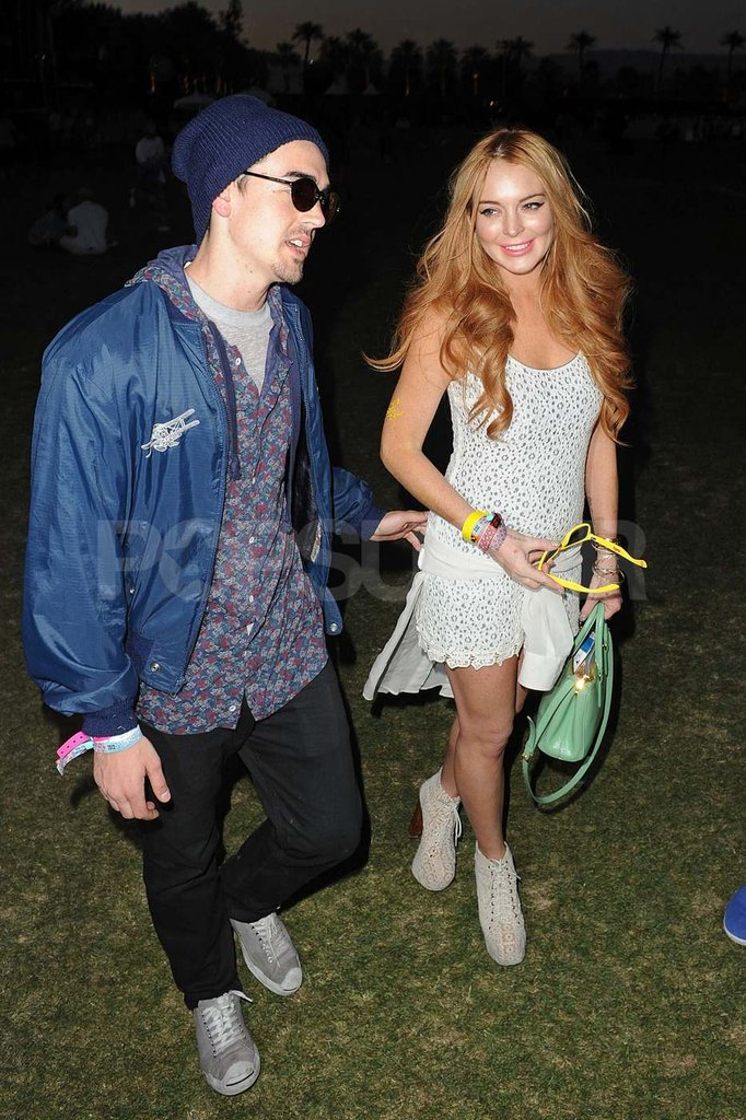 Lindsay Lohan hung out with a guy friend on Sunday.