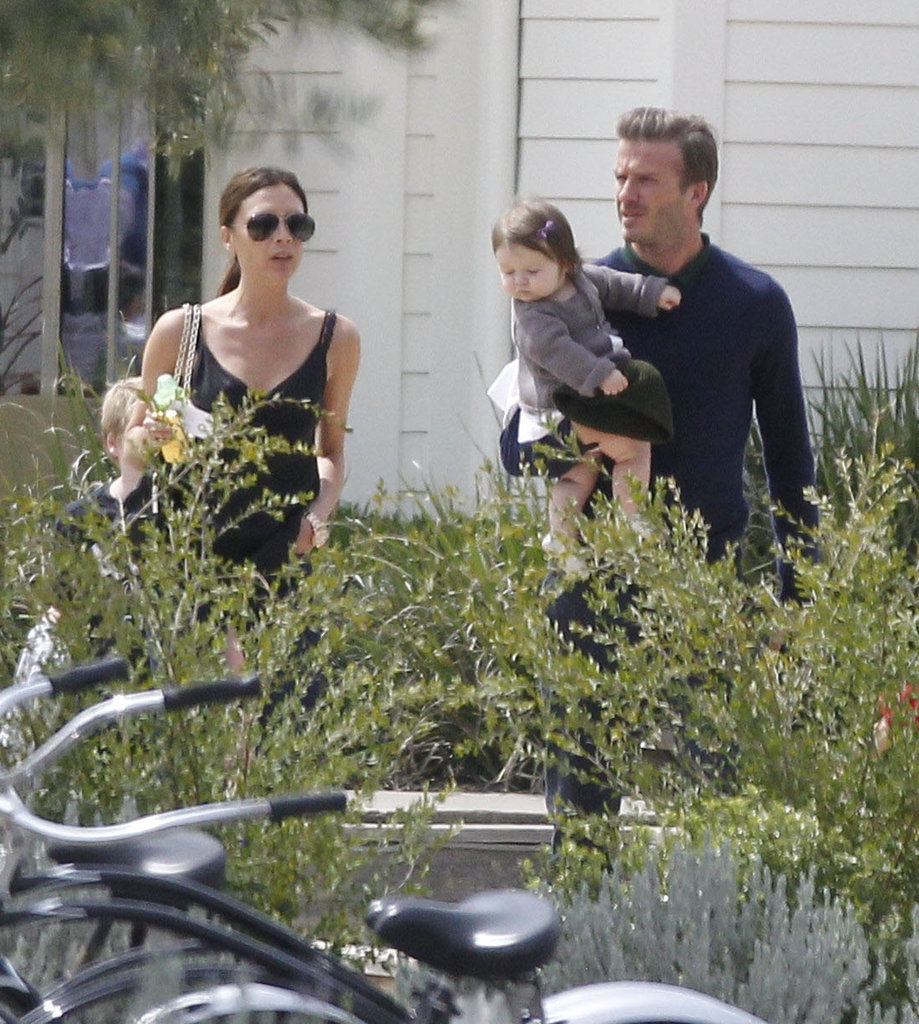David Beckham and Victoria Beckham hung out on Easter as a family.