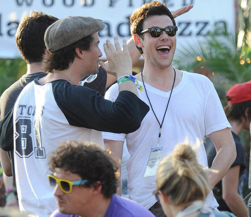 Cory Monteith had a good laugh in 2011.