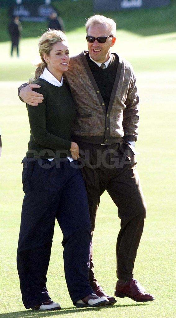 Kevin Costner and Christine Baumgartner traveled to St. Andrews, Scotland, after celebrating their October 2004 ceremony in Colorado.