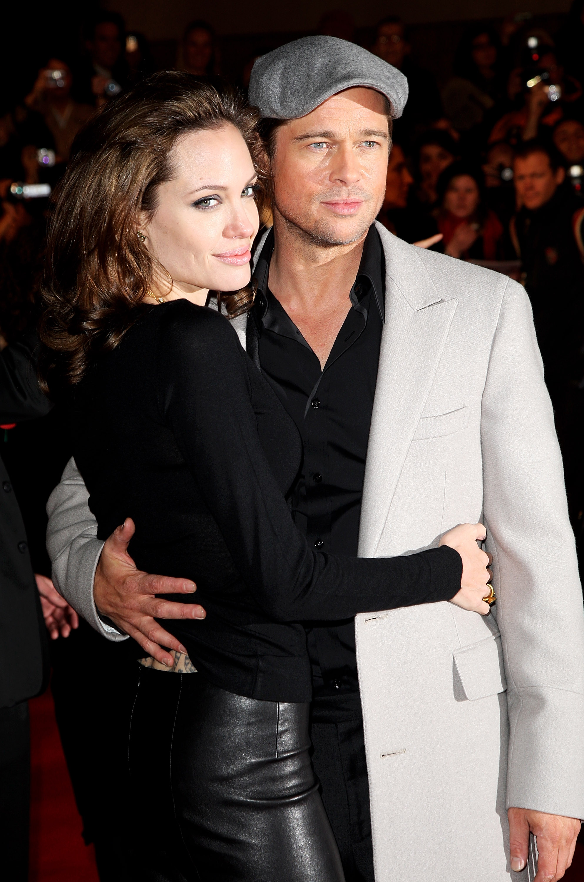 Angelina Jolie and Brad Pitt stepped out together for the London premiere of Beowulf in November 2007.