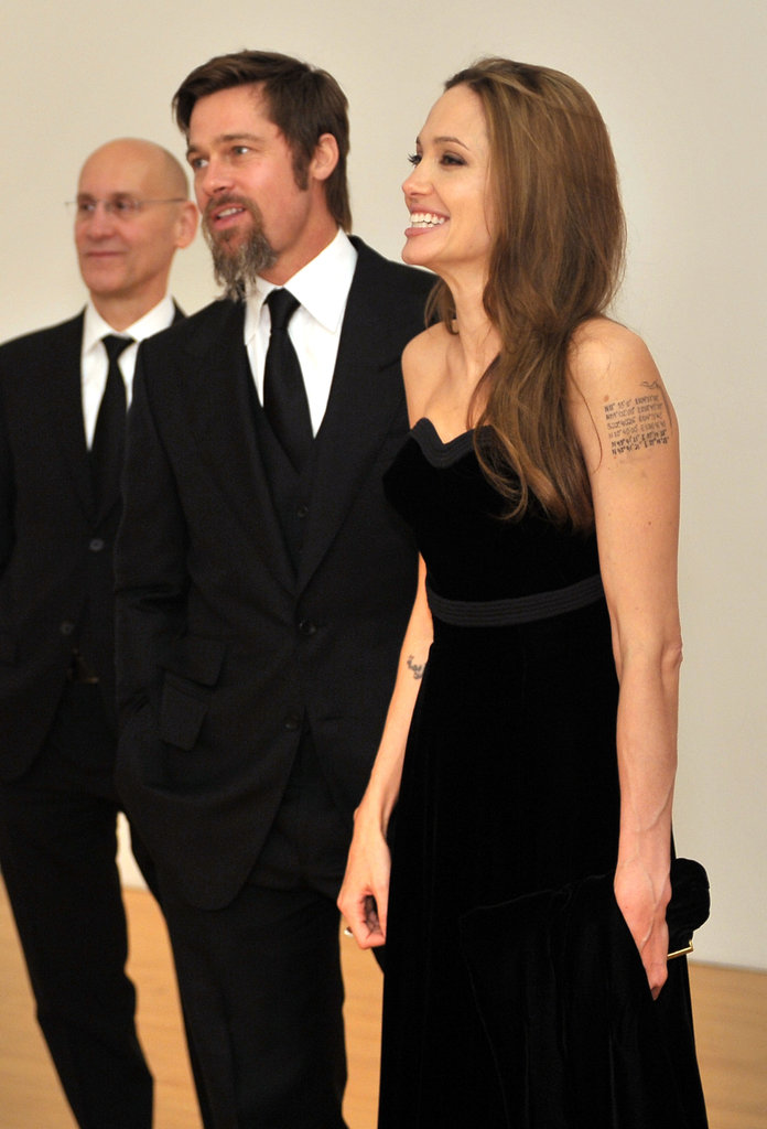 Brad Pitt and Angelina Jolie modeling their finest black tie attire for a MOCA Gala in November 2009.