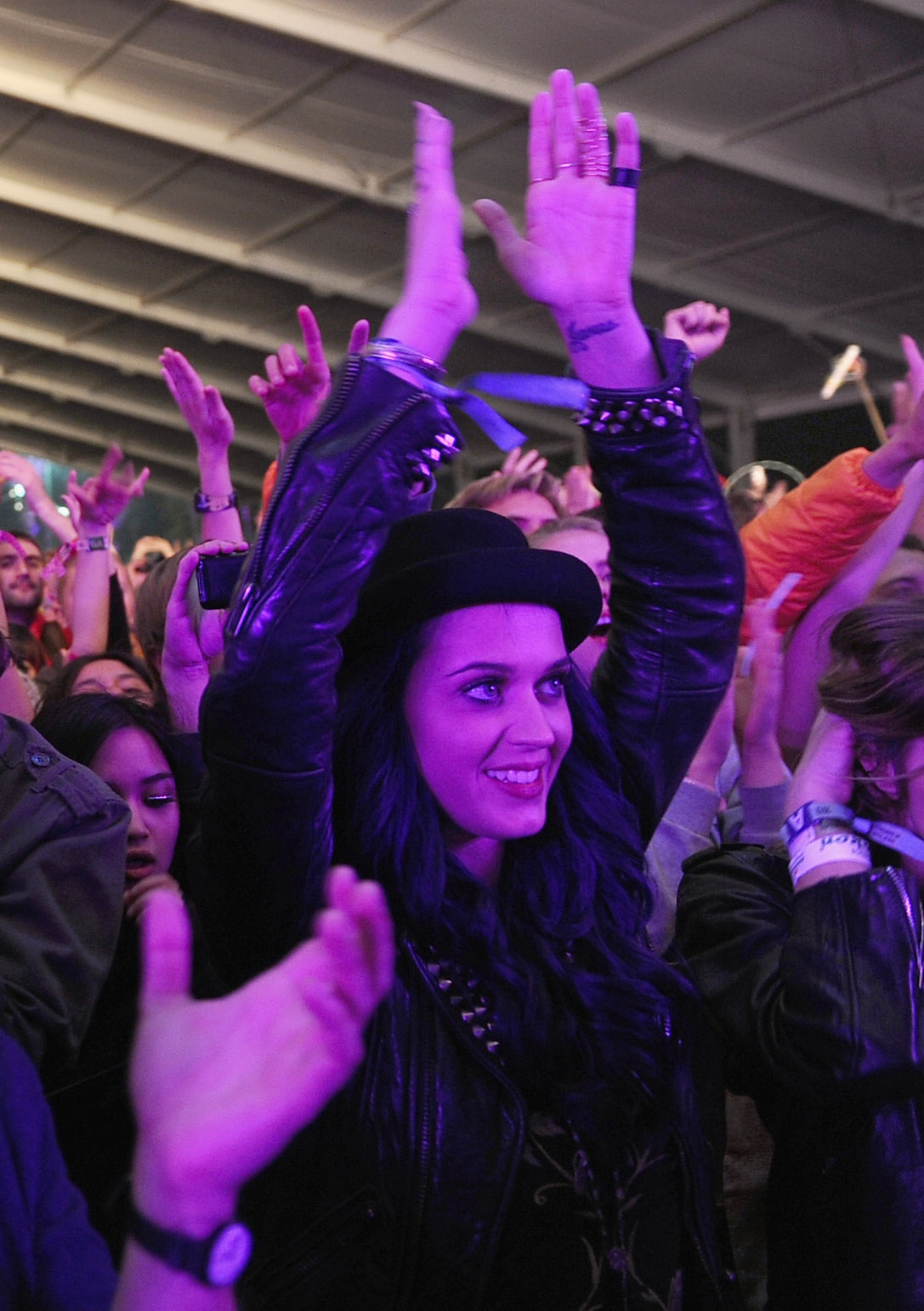 Katy Perry rocked out to M83 on Friday.