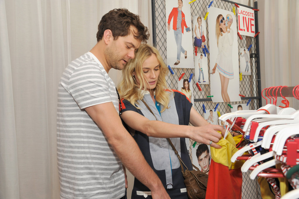 Diane Kruger and Joshua Jackson checked out Lacoste gear at the brand's party Saturday.
