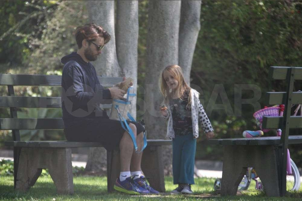Tobey Maguire and Ruby Maguire relaxed in Pacific Palisades.