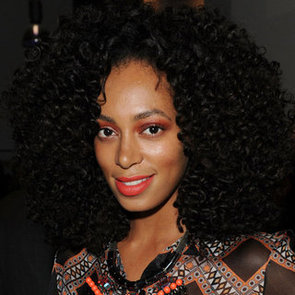 Solange Knowles's Tangerine Eye Shadow and Lipstick
