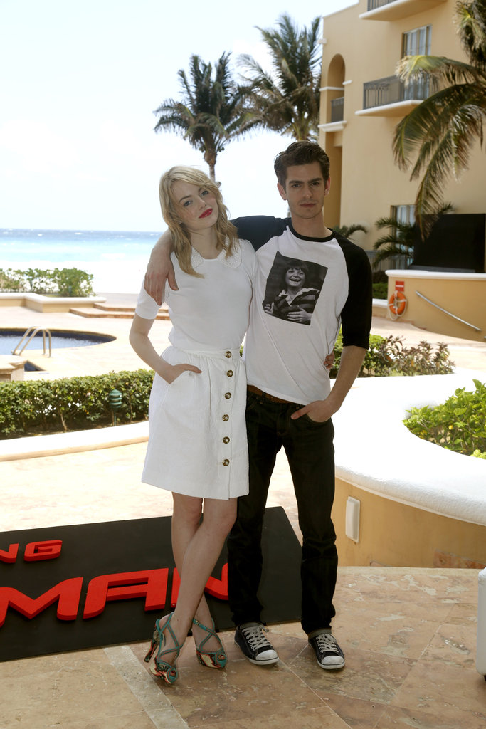 Emma Stone and Andrew Garfield promoted The Amazing Spider-Man in Mexico.