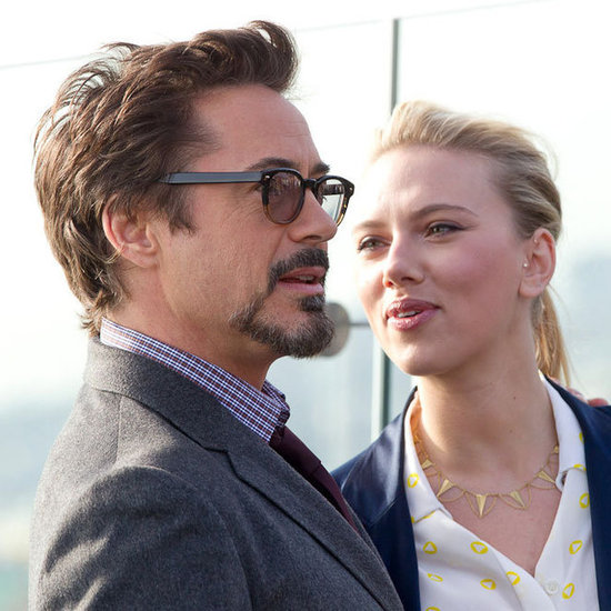 Scarlett Johansson and The Avengers Cast in Moscow Pictures