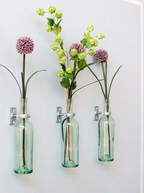Move your vases from your table to your wall. Source: Design*Sponge