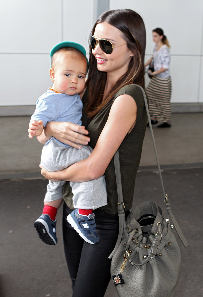 Miranda Kerr takes Flynn Bloom with her when she needs to travel for work. The pair visited her home country of Australia in January 2012.
