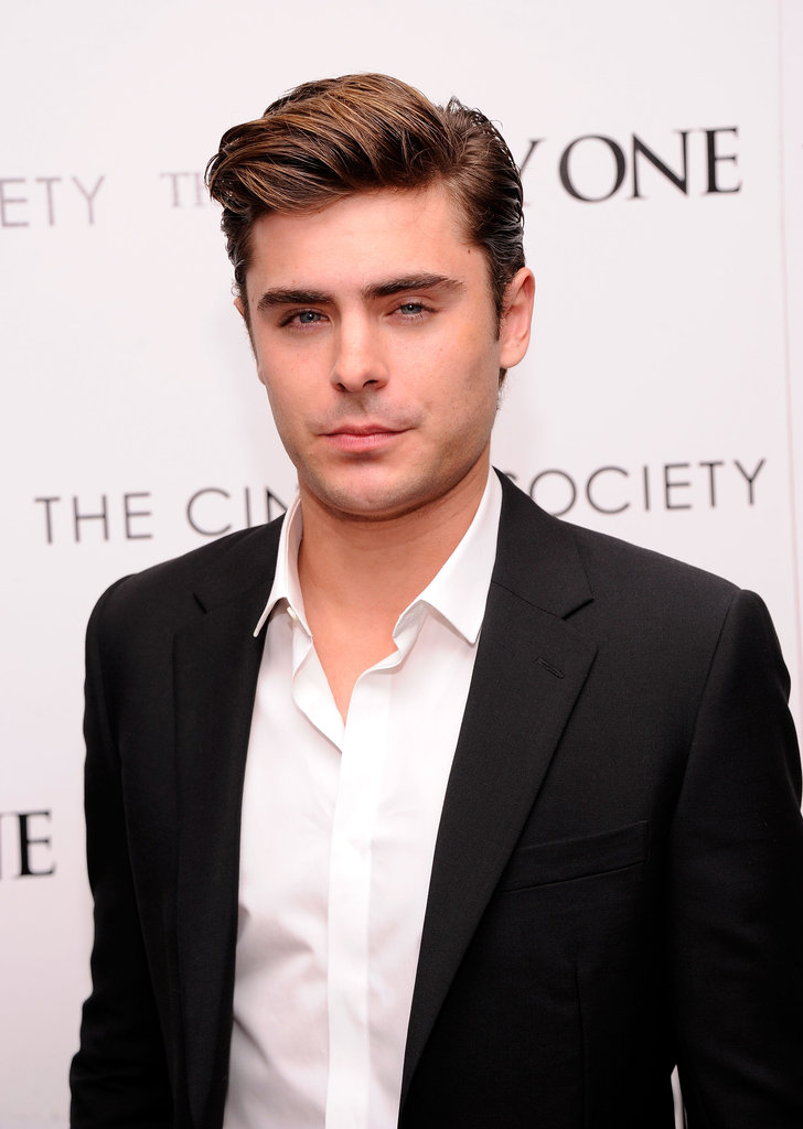 Zac Efron posed at the Cinema Society and Men's Health screening of The Lucky One in NYC.