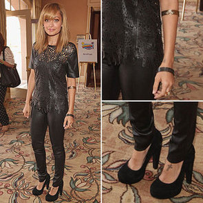 Nicole Richie's Laser Cut Leather Look: Steal Her Laid Back Style via Shopstyle Australia