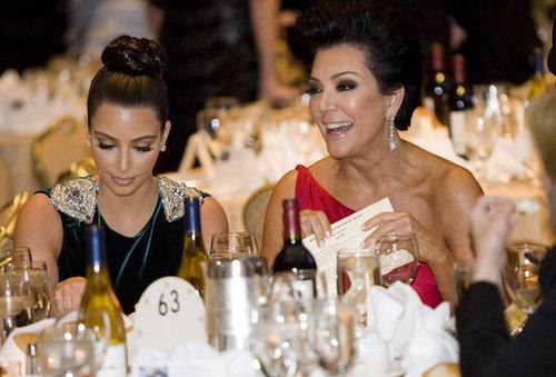 Kris Jenner and Kim Kardashian sat together at the White House Correspondant's Dinner.