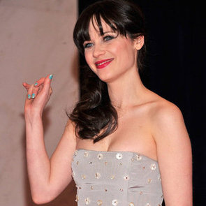 How To Get Zooey Deschanel's Baby Blue Nails As Seen On The Red Carpet For The Whitehouse Correspondents Dinner
