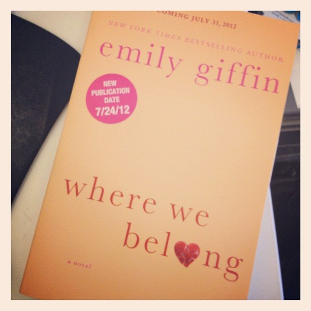 "POPSUGAR Entertainment says, ""Got the new Emily Giffin book in the mail — excited to dive in."""