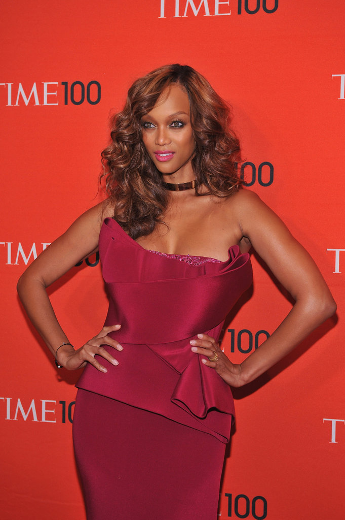 Tyra Banks Struck A Pose On The Red Carpet Of The Time 100