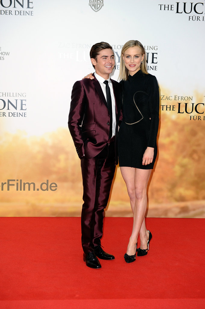 Zac Efron and Taylor Schilling arrived in Germany for the premiere of The Lucky One.