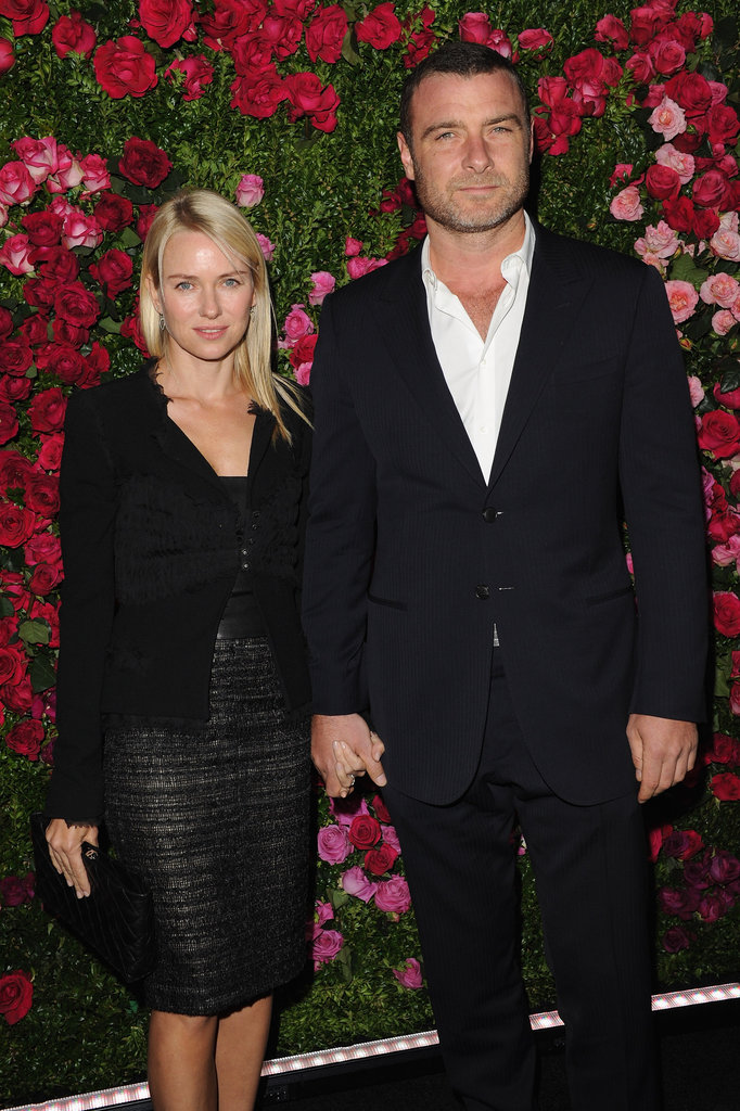 Naomi Watts was hand in hand with Liev Schreiber at the Chanel dinner party at the 2012 Tribeca Film Festival.