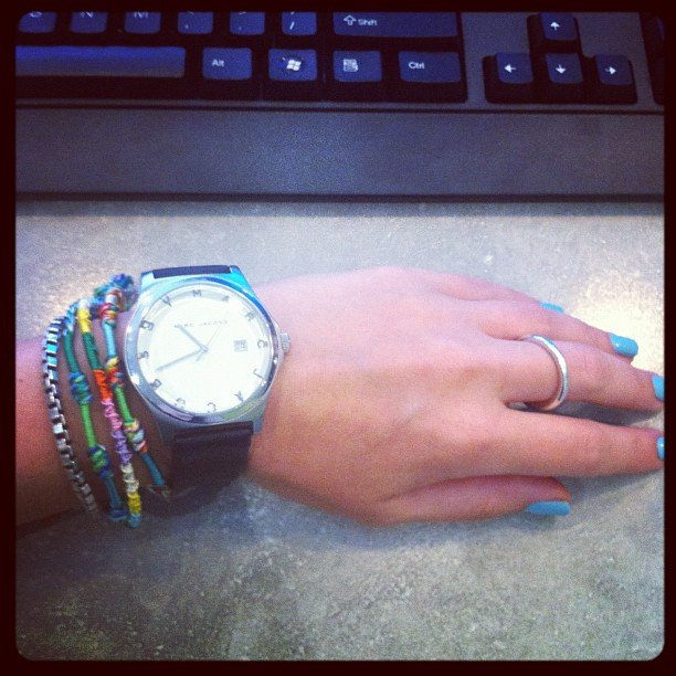 Our weekend editor Alison Larsen joins the arm party brigade.