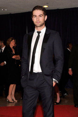 Chace Crawford wore a black tie to the event.