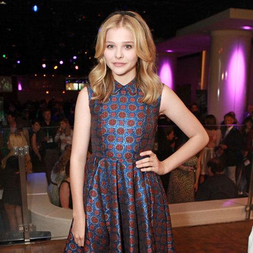 Chloe Moretz Printed Knee-Length Dress