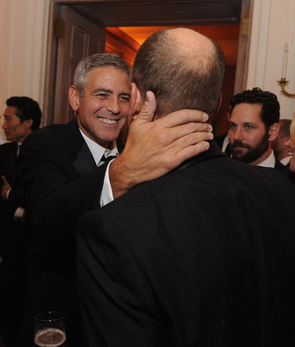 George Clooney was all smiles as he hung out at the White House Correspondant's Dinner.