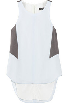 """""""I love the barely there light blue hue; perfect for pairing with white jeans and a streamlined blazer."""" — Chi Diem Chau, associate editor  Rag & Bone Adeline Colorblock Top ($255)"""