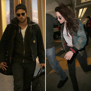 Kristen Stewart and Robert Pattinson Pictures at Vancouver Airport