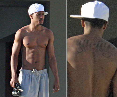 "Following Nick Cannon's April 2008 nuptials to Mariah Carey, he was spotted with ""Mariah"" prominently displayed on his back."