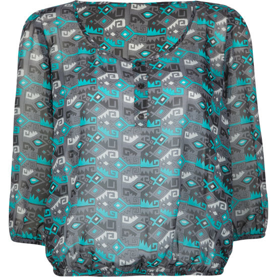 A classic bohemian top in wearable, easy-to-match shades.  Full Tilt Ethnic Print Peasant Top ($25)