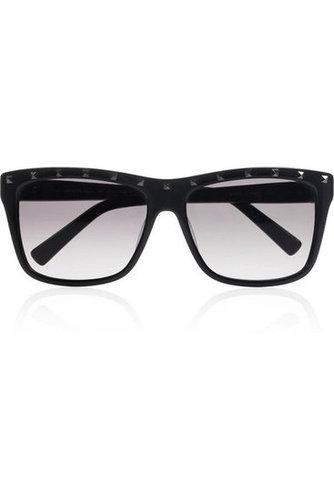 Valentino|Rockstud D-frame acetate sunglasses|NET-A-PORTER.COM
