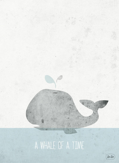 Whale of a Time Art Print by Lee Walsh